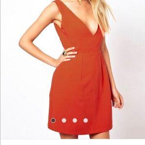 ASOS Deep V Tulip Dress